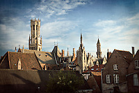 Photo of the Belfry Tower and Skyline in Bruges, Belgium