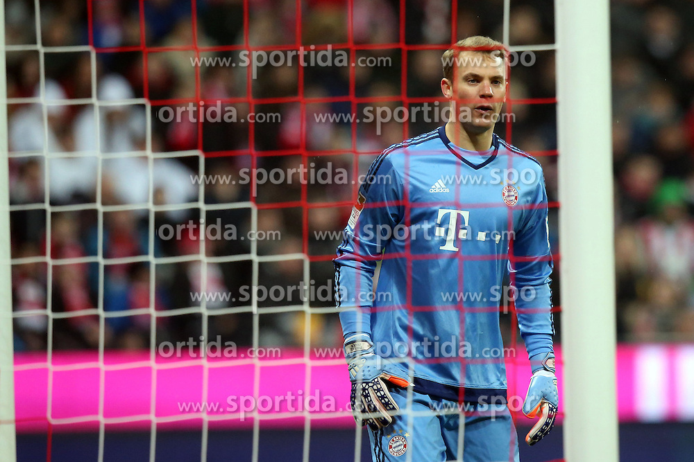 12.03.2016, Allianz Arena, Muenchen, GER, 1. FBL, FC Bayern Muenchen vs SV Werder Bremen, 26. Runde, im Bild Torwart Manuel Neuer (FC Bayern Muenchen), // during the German Bundesliga 26th round match between FC Bayern Munich and SV Werder Bremen at the Allianz Arena in Muenchen, Germany on 2016/03/12. EXPA Pictures &copy; 2016, PhotoCredit: EXPA/ Eibner-Pressefoto/ Langer<br /> <br /> *****ATTENTION - OUT of GER*****