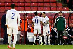 Danny Ings of England prepares to come on as a substitute - Photo mandatory by-line: Matt McNulty/JMP - Mobile: 07966 386802 - 11/06/2015 - SPORT - Football - Barnsley - Oakwell Stadium - England U21 v Belarus U21 - International Friendly U21s