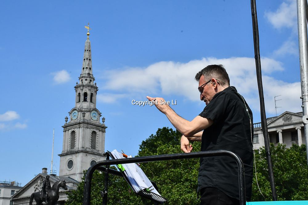 Sign Language Interpreters at West End Live 2019 in Trafalgar Square, on 22 June 2019, London, UK.