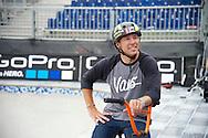 Gary Young during Men's BMX Park Practice at the 2013 X Games Barcelona in Barcelona, Spain. ©Brett Wilhelm/ESPN
