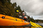 Dave Prothero kayaks on Comox Lake, BC. on Feb. 23, 2013.