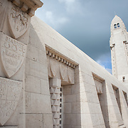 The Douaumont Ossuary is the final resting place of over 130,000 unidentified French and German soldiers found on the battlefield of Verdun.