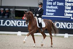 Mencke Libuse, CZE, Glucksruf II<br /> Longines FEI/WBFSH World Breeding Dressage Championships for Young Horses - Ermelo 2017<br /> © Hippo Foto - Dirk Caremans<br /> 05/08/2017