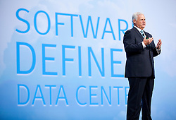 Joseph M. Tucci, Chairman, and CEO of EMC, gives a keynote presentation on the 3rd day of  the Oracle OpenWorld conference in San Francisco, Calif.