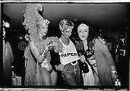 May 22, 1991:  Brooke Shields wtih two drag queens at Love Ball in New York City, New York..
