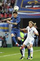 FOOTBALL - INTERNATIONAL FRIENDLY GAMES 2011/2012 - FRANCE v ICELAND  - 27/05/2012 - PHOTO JEAN MARIE HERVIO / REGAMEDIA / DPPI - MATHIEU DEBUCHY (FRA) / BIRKIR BJARNASON (ICE)