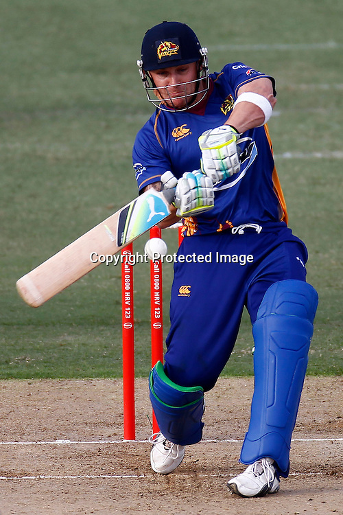 Brendon McCullum during the HRV Cup match between the Auckland Aces v Otago Stags. Men's domestic Twenty20 cricket. Colin Maiden Park, Auckland, New Zealand. Friday 6 January 2012. Ella Brockelsby / photosport.co.nz