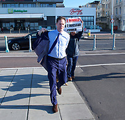 The Andrew Marr Show <br /> Brighton seafront, Brighton, East Sussex, Great Britain <br /> 24th September 2017 <br /> <br /> Nick Clegg <br /> former leader of the LibDems and deputy Prime Minister arriving for the Marr show <br /> <br /> Photograph by Elliott Franks <br /> Image licensed to Elliott Franks Photography Services