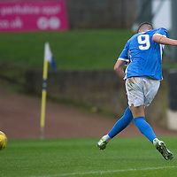 St Johnstone v Turriff Utd FC.. 02.08.16  IRN-BRU CUP 1st Round  <br />Greg Hurst scores to put saints 1-0 up<br />Picture by Graeme Hart.<br />Copyright Perthshire Picture Agency<br />Tel: 01738 623350  Mobile: 07990 594431