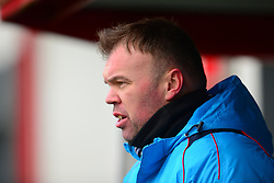 BOBBY WILKINSON MANAGER WEALDSTONE FC, Brackley Town v Wealdstone FA Trophy Semi Final First Leg, St James Park Saturday 17th March 2018. Score 1-0 (Alex Gudger)