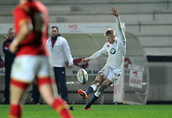 Mathew Protheroe fly half for England (Gloucester Rugby) - Mandatory by-line: Paul Knight/JMP - Mobile: 07966 386802 - 11/03/2016 -  RUGBY - Ashton Gate Stadium - Bristol, England -  England U20 v Wales U20 - Six Nations U20