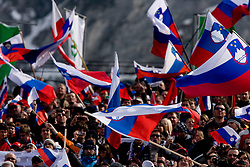 Fans during Flying Hill Individual Fourth Round at 3rd day of FIS Ski Flying World Championships Planica 2010, on March 20, 2010, Planica, Slovenia.  (Photo by Vid Ponikvar / Sportida)