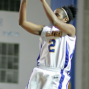 Delaware Junior Guard (#2) Jocelyn Bailey takes the jump shot scoring 2 of her 15 points during VCU delaware game at the The Bob Carpenter Center In Newark Delaware Thursday Night.