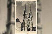 Zagreb : Katedrala. <br /> <br /> ImpresumS. l. : S. n., [1935].<br /> Materijalni opis1 razglednica : tisak ; 14 x 9 cm.<br /> Vrstavizualna građa • razglednice<br /> ZbirkaGrafička zbirka NSK • Zbirka razglednica<br /> Formatimage/jpeg<br /> PredmetZagreb –– Kaptol<br /> Katedrala Uznesenja Marijina (Zagreb)<br /> SignaturaRZG-KAP-48<br /> Obuhvat(vremenski)20. stoljeće<br /> NapomenaRazglednica je putovala 1935. godine.<br /> PravaJavno dobro<br /> Identifikatori000955540<br /> NBN.HRNBN: urn:nbn:hr:238:082929 <br /> <br /> Izvor: Digitalne zbirke Nacionalne i sveučilišne knjižnice u Zagrebu