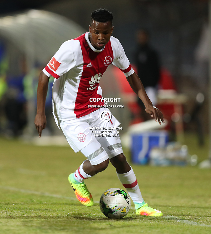 DURBAN, SOUTH AFRICA - AUGUST 23: Thabo Mosadi of Ajax Cape Town during the Absa Premiership match between Maritzburg United and Ajax Cape Town at Harry Gwala Stadium on August 23, 2017 in Durban, South Africa. (Photo by Steve Haag/Gallo Images)