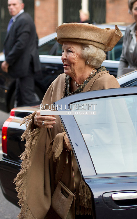 AMSTERDAM - Princess Beatrix during the 65th anniversary of the Cancer Society. The Queen Wilhelmina Fund, the Dutch Cancer Society was founded in 1949 with a National Gift of the equivalent of about 1 million, the grandmother of Beatrix had received in 1948 for her Golden Jubilee. Princess Beatrix is patron of the fund. COPYRIGHT ROBIN  UTRECHT