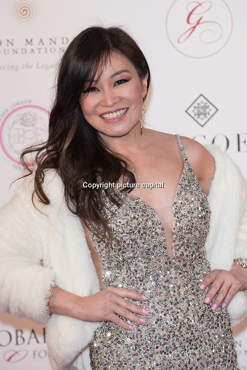 Jennifer Su is a South African radio and television personality Arrive The Nelson Mandela Foundation hosts dinner in memory of Nelson Mandela on what would have been the day before his 100 birthday on 24 April 2018 at Rosewood Hotel, London, UK.