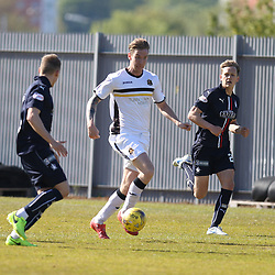 Robert Thomson looks for the pass during the Dumbarton v Falkirk Scottish Championship 06 May 2017<br /> <br /> <br /> <br /> <br /> <br /> (c) Andy Scott | SportPix.org.uk