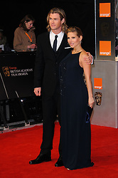 Chirs Hemsworth and Elsa Pataky arrive for the 2012 ORANGE BRITISH ACADEMY FILM AWARDS, The Bafta's at The Royal Opera House, Covent Garden, London. Photo By I-Images