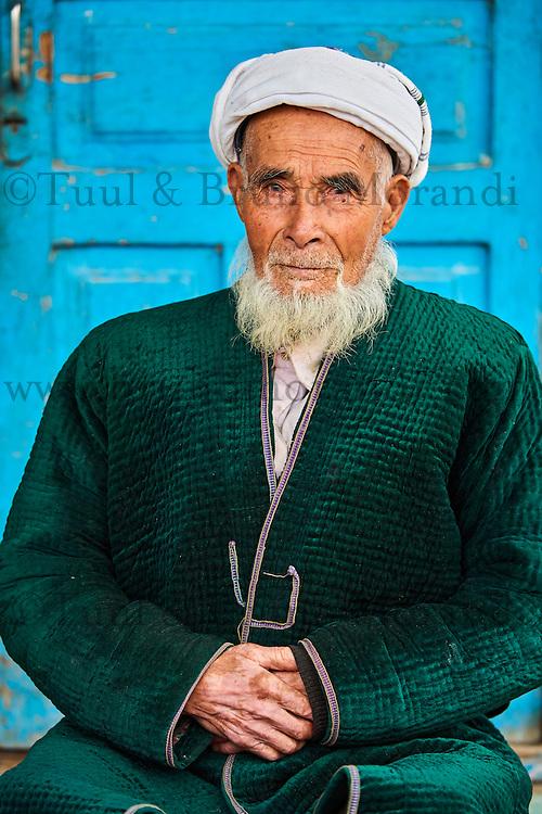 Ouzbékistan, province de Kachkadaria, environs de Chakhrisabz, homme ouzbek // Uzbekistan, Kachka Daria region, near Chakhrisabz, Uzbek man