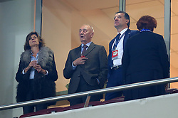 04.11.2015, Karaiskakis Stadium, Piraeus, GRE, UEFA CL, Olympiacos vs Dinamo Zagreb, Gruppe F, im Bild Zdravko Mamic, Franjo Gregoric // during UEFA Champions League group F match between Olympiacos and Dinamo Zagreb at the Karaiskakis Stadium in Piraeus, Greece on 2015/11/04. EXPA Pictures © 2015, PhotoCredit: EXPA/ Pixsell/ Slavko Midzor<br /> <br /> *****ATTENTION - for AUT, SLO, SUI, SWE, ITA, FRA only*****