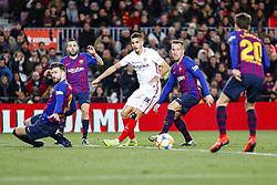 January 30, 2019 - Barcelona, Spain - FC Barcelona midfielder Arthur (8) during the match FC Barcelona v Sevilla CF, for the round of 8, second leg of the Copa del Rey played at Camp Nou  on 30th January 2019 in Barcelona, Spain. (Credit Image: © Mikel Trigueros/NurPhoto via ZUMA Press)