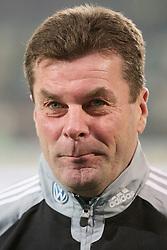 15.02.2012, Volkswagen Arena, Wolfsburg, GER, 1. FBL, VfL Wolfsburg vs FC Bayern Muenchen, 22. Runde, im Bild Trainer Dieter Hecking (VfL Wolfsurg) // during the German Bundesliga 22th round match between VfL Wolfsburg and FC Bayern Munich at the Volkswagen Arena, Wolfsburg, Germany on 2012/02/15. EXPA Pictures © 2013, PhotoCredit: EXPA/ Eibner/ Schulz..***** ATTENTION - OUT OF GER *****