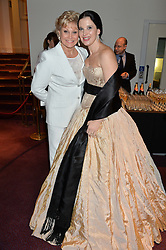 Left to right, ANGELA RIPPON and OLGA BALAKLEETS at the 10th anniversary Gala of the Russian Ballet Icons at the London Coliseum, St.Martin's Lane, London on 8th March 2015.