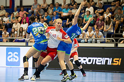 Katharine Brothmann Heindahl of Denmark during handball match between Women national teams of Slovenia and Denmark in Round #5 of Qualifications for Women's EHF EURO 2018 Championship in France, on May 30, 2018 in Sports hall Golovec, Celje, Slovenia. Photo by Urban Urbanc / Sportida