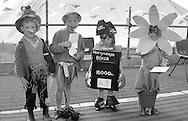 Fancy dress under 8: 1st Shane Round, Grimethorpe; 4th Kyle Cook, Grimethorpe; 3rd Samantha Key, Woolley; 2nd Jerone Cargill, Birdwell. 1992 Yorkshire Miners Gala, Barnsley.