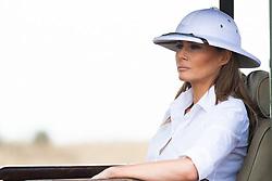 October 5, 2018 - Nairobi, Kenya - First Lady Melania Trump participates in a safari tour at the Nairobi National Park in Nairobi, Kenya. (Credit Image: ? Andrea Hanks/White House via ZUMA Wire/ZUMAPRESS.com)