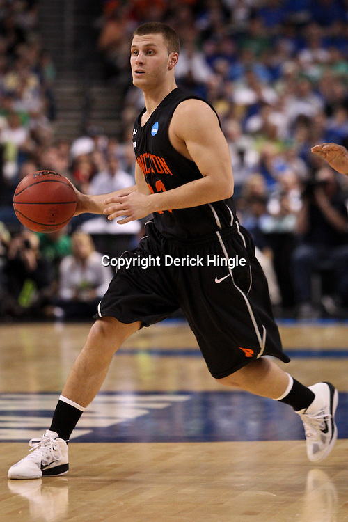 Mar 17, 2011; Tampa, FL, USA; Princeton Tigers guard Dan Mavraides (33)during second half of the second round of the 2011 NCAA men's basketball tournament against the Kentucky Wildcats at the St. Pete Times Forum. Kentucky defeated Princeton 59-57.  Mandatory Credit: Derick E. Hingle
