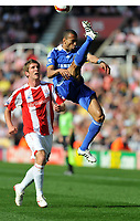 Photo: Tony Oudot/Richard Lane Photography. Stoke City v Chelsea. Barclays Premier League. 27/09/2008. <br />  Jose Bosingwa of Chelsea clears from Richard Cresswell of Stoke
