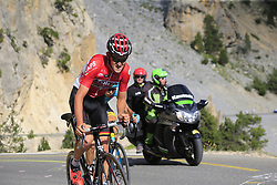 Tiesj Benoot (BEL) Lotto-Soudal climbs through the Caisse Deserte on Col d'Izoard during Stage 18 of the 104th edition of the Tour de France 2017, running 179.5km from Briancon to the summit of Col d'Izoard, France. 20th July 2017.<br /> Picture: Eoin Clarke | Cyclefile<br /> <br /> All photos usage must carry mandatory copyright credit (© Cyclefile | Eoin Clarke)