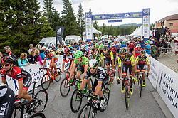 Andi Bajc (SLO) of Amplatz - BMC, Mark Cavendish (GB) of Team Dimension Data during Stage 3 of 24th Tour of Slovenia 2017 / Tour de Slovenie from Celje to Rogla (167,7 km) cycling race on June 16, 2017 in Slovenia. Photo by Vid Ponikvar / Sportida