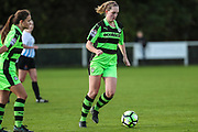 Forest Green Rovers Georgeina Macey(6) runs forward during the South West Womens Premier League match between Forest Greeen Rovers Ladies and Marine Academy Plymouth LFC at Slimbridge FC, United Kingdom on 5 November 2017. Photo by Shane Healey.