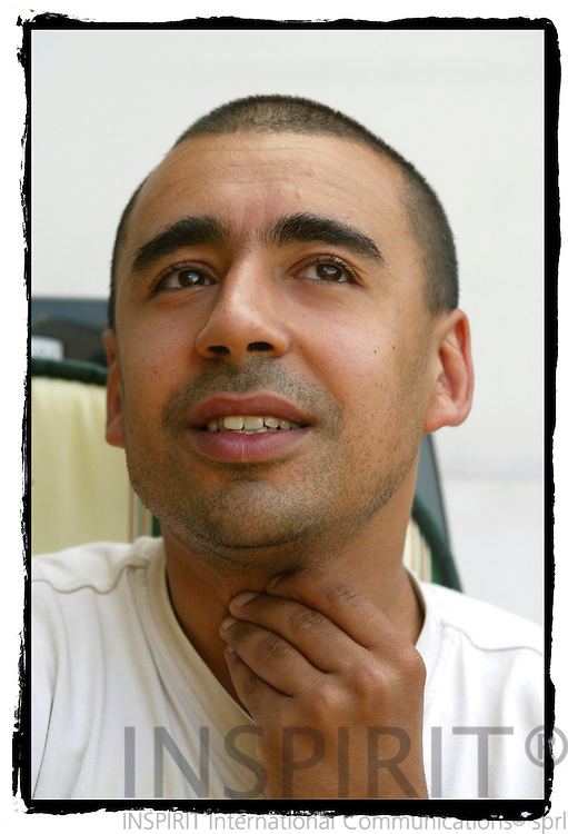 BRUSSELS - BELGIUM - 12 JULY 2006 -- The belgian sports teacher Wahid HAFIDI talks of his life as muslim and the influence Professor Tariq RAMADAN had on his religion.-- PHOTO: ERIK LUNTANG / ..