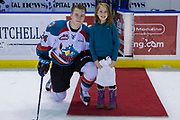 KELOWNA, CANADA - JANUARY 10:  Second Star of the Game Kyle Topping #24 of the Kelowna Rockets at the Kelowna Rockets game on January 10, 2018 at Prospera Place in Kelowna, British Columbia, Canada.  (Photo By Cindy Rogers/Nyasa Photography,  *** Local Caption ***