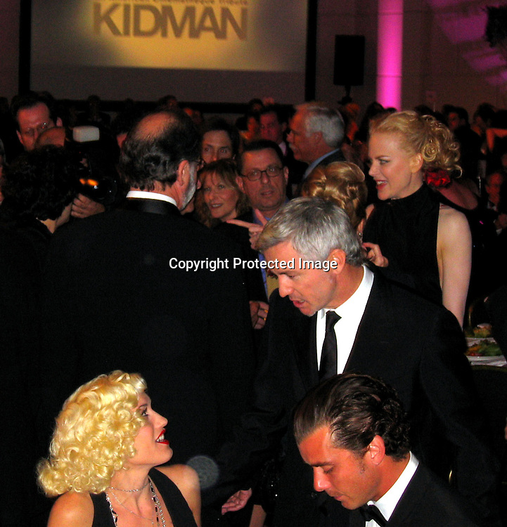 Gwen Stefani, Baz Lurhman, Gavin Rossdale with Nicole Kidman<br />
