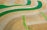 Aerial view of Farm in Pennsylvania Aerial views of artistic patterns in the earth.