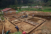 The foundations for the new mother's waiting home at Kisiizi Hospital, Uganda.