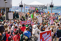 Rally for clean energy at an EPA hearing in Seattle, Washington in May, 2009.
