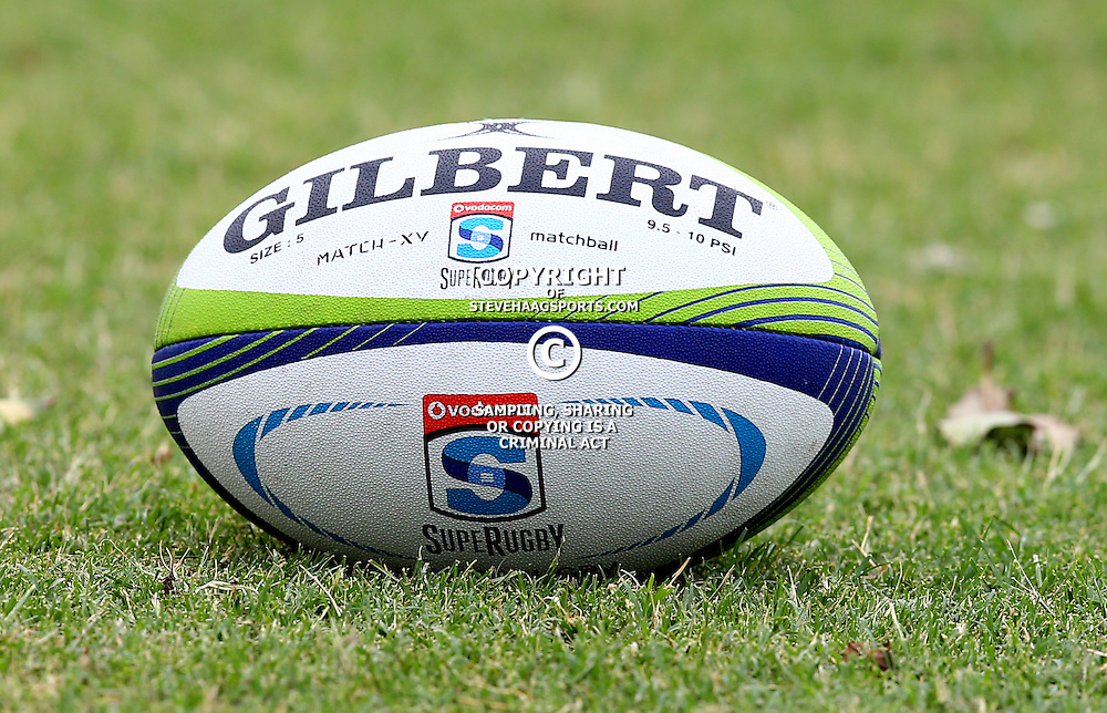 DURBAN, SOUTH AFRICA - JANUARY 13: General views of the match ball during the Cell C Sharks training session at Growthpoint Kings Park on January 13, 2017 in Durban, South Africa. (Photo by Steve Haag/Gallo Images)
