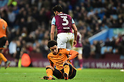Wolverhampton Wanderers striker Helder Costa (17) is left on the floor during the EFL Sky Bet Championship match between Aston Villa and Wolverhampton Wanderers at Villa Park, Birmingham, England on 10 March 2018. Picture by Dennis Goodwin.
