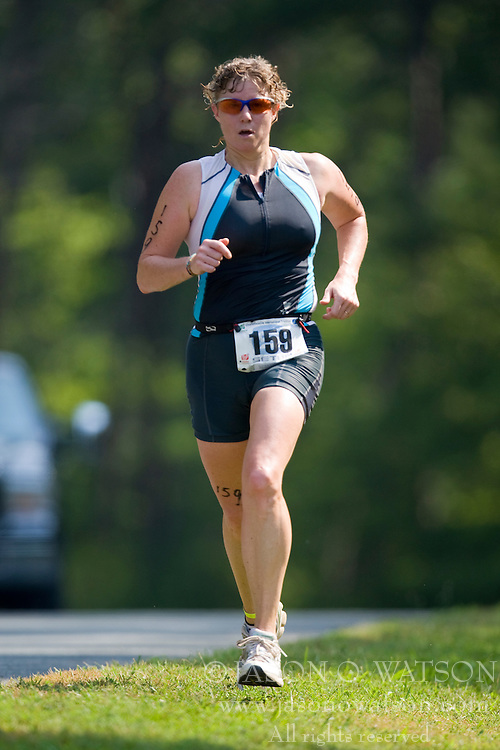 CHARLOTTESVILLE, VA - July 27, 2008 - BETSY SMIDINGER in The 2008 Charlottesville International Triathlon was held at Walnut Creek Park in Albemarle County near Charlottesville, Virginia, USA.