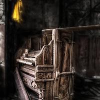 Abandoned Compton Organ on Birnbeck Pier in Weston-Super-Mare, Somerset, UK