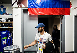 Matija Pintaric of Slovenia in Dressing room of Team Slovenia at the 2017 IIHF Men's World Championship, on May 11, 2017 in AccorHotels Arena in Paris, France. Photo by Vid Ponikvar / Sportida