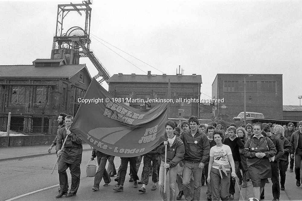 1981 People's  March for Jobs. Manvers Main Colliery  07/05/1981.