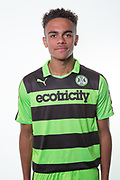 Forest Green Rovers Jordan Simpson(12) during the Forest Green Rovers Photocall at the New Lawn, Forest Green, United Kingdom on 31 July 2017. Photo by Shane Healey.